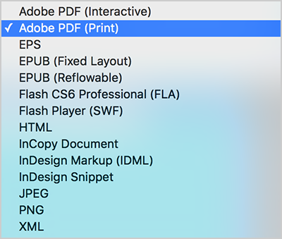 Selecting Adobe PDF (Print) as your format.