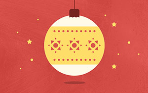 Christmas decorations, header for gift guides published with Publitas.