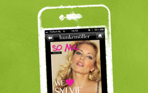 Drawn iPhone with Hunkemoller magazine.