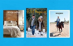 Covers of online catalogs that use visual storytelling to express a great brand story.