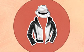 Jacket and hat forming a character